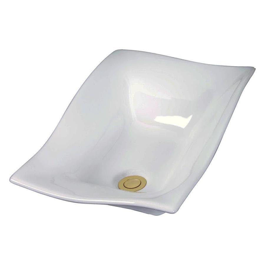 Barclay White Vessel Round Bathroom Sink