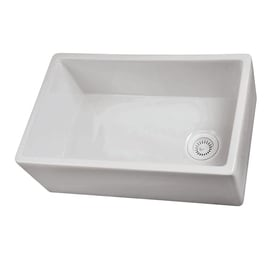 Exceptional Barclay 17.5 In X 29.75 In Single Basin Fireclay Apron Front/Farmhouse