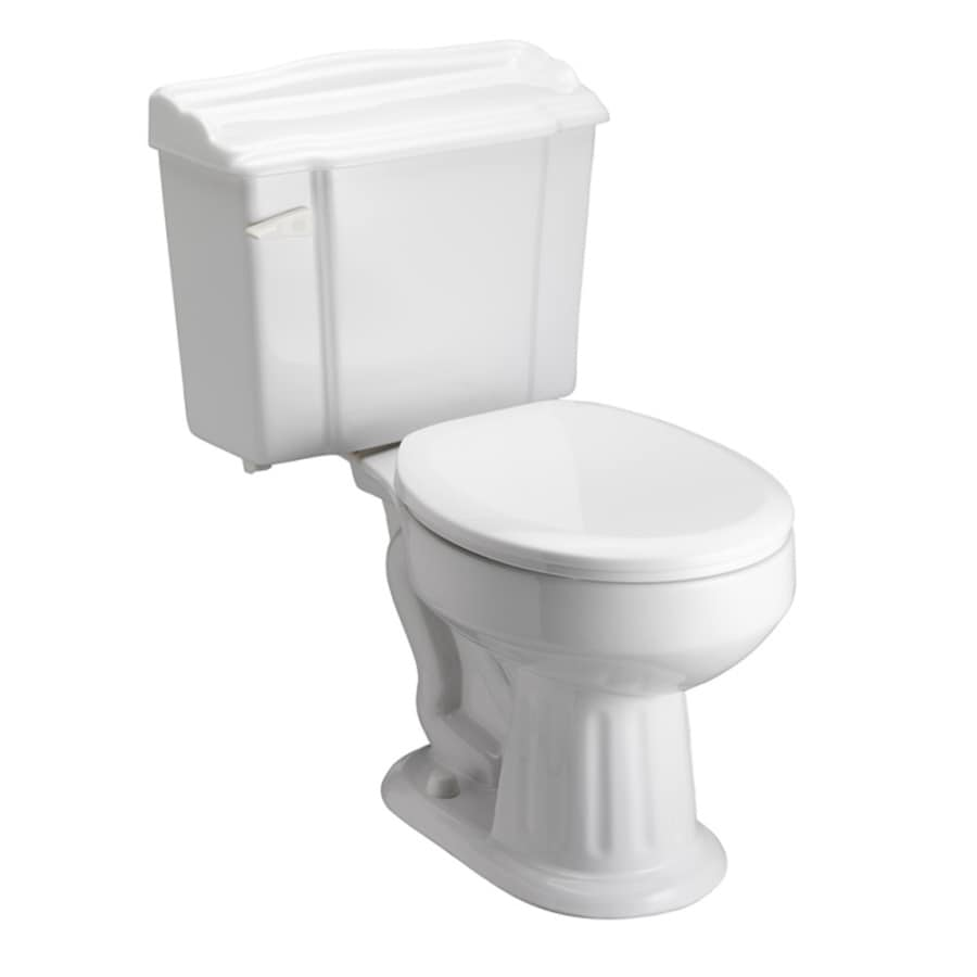 Barclay Victoria White 1.6 GPF 12-in Rough-In Round 2-Piece Toilet