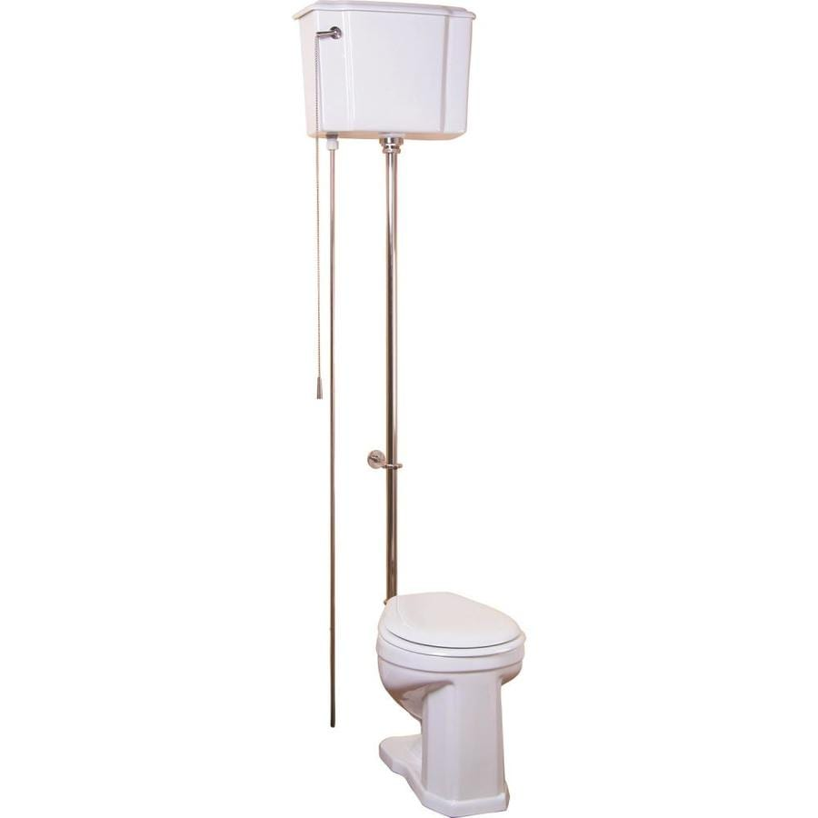 Barclay Victoria White  Round Standard Height 2-piece Toilet 12-in Rough-In Size