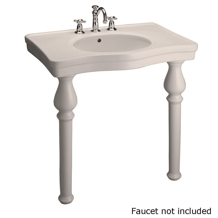 Barclay Bisque Wall-Mount Rectangular Bathroom Sink with Overflow