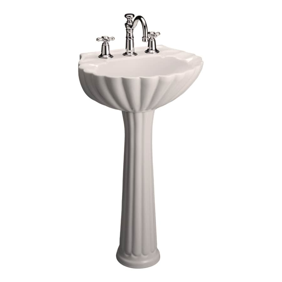 Barclay Bali 35.37-in H Bisque Vitreous China Pedestal Sink