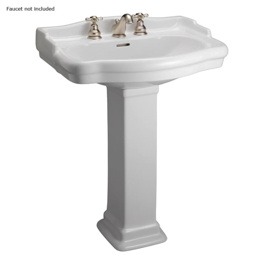 Barclay Stanford 35.75-in H White Vitreous China Pedestal Sink
