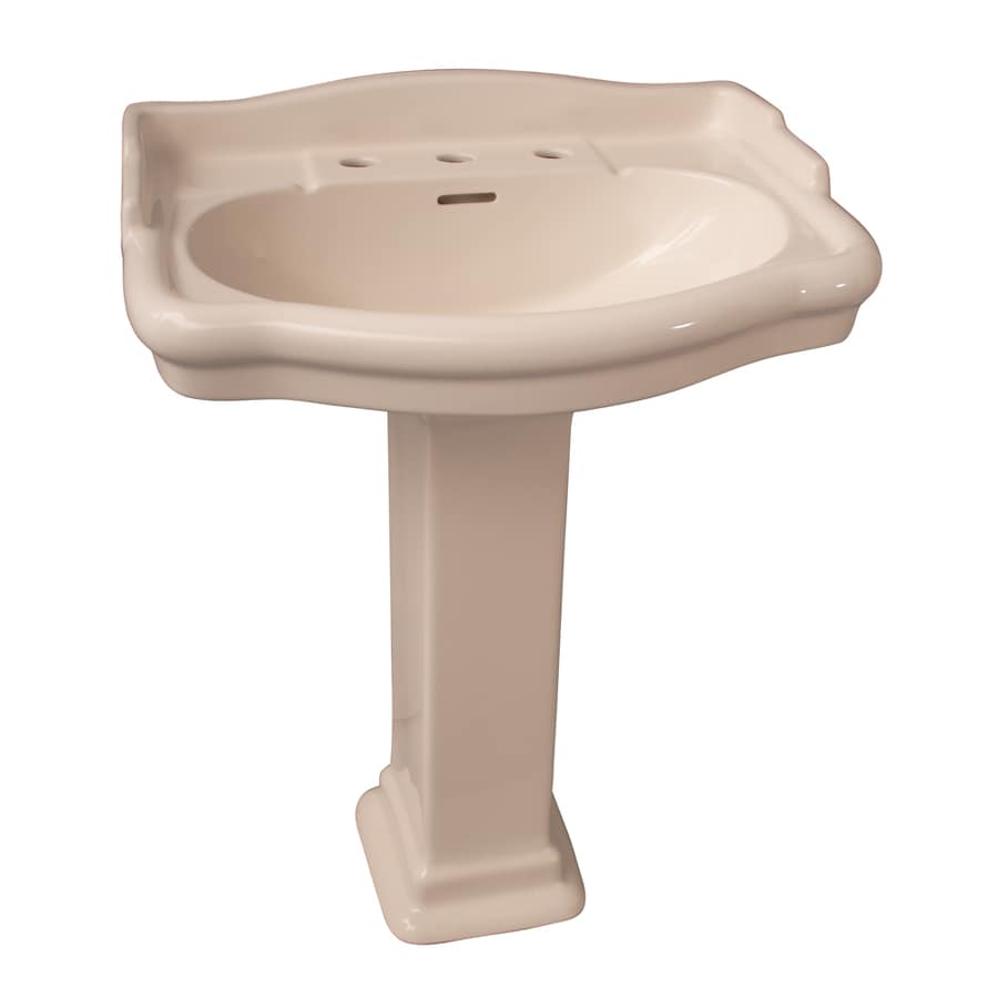Barclay Stanford 35.75-in H Bisque Vitreous China Pedestal Sink