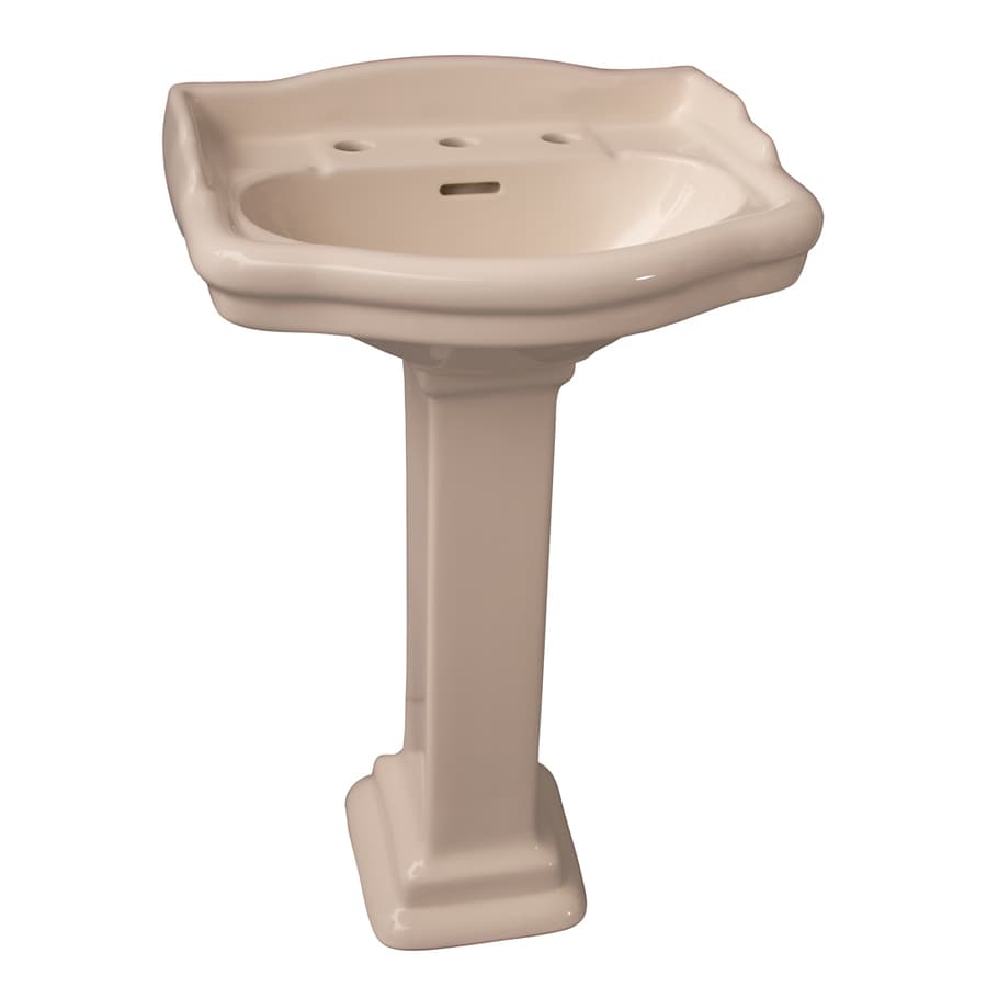 Barclay Stanford 35.5-in H Bisque Vitreous China Pedestal Sink