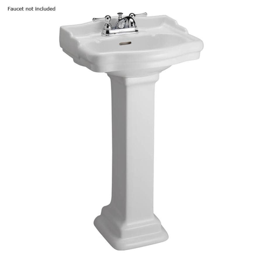 Barclay Stanford 34.25-in H White Vitreous China Pedestal Sink