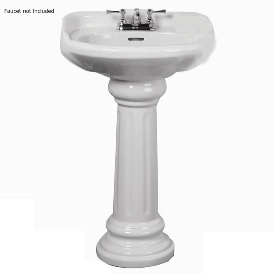 Shop Barclay Vicky 35 5 In H White Vitreous China Pedestal Sink At Lowes Com