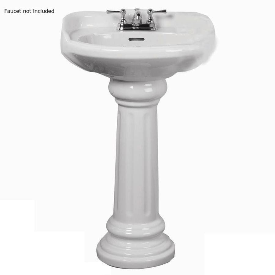 Barclay Victoria 36 5 In H White Vitreous China Pedestal