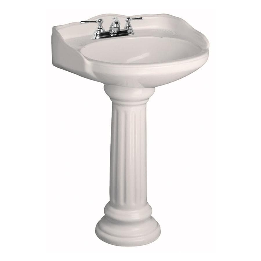 Barclay Victoria 36.5-in H Bisque Vitreous China Pedestal Sink