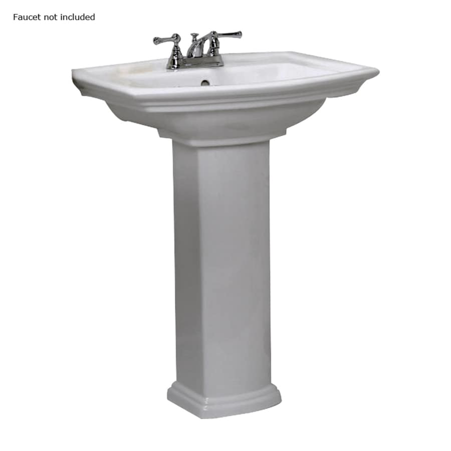 lowes bathroom sinks pedestal shop barclay washington 32 75 in h white vitreous china 19340