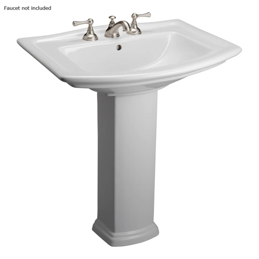 Barclay Washington 32.75-in H White Vitreous China Pedestal Sink