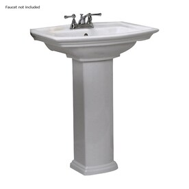 barclay washington white vitreous china pedestal sink