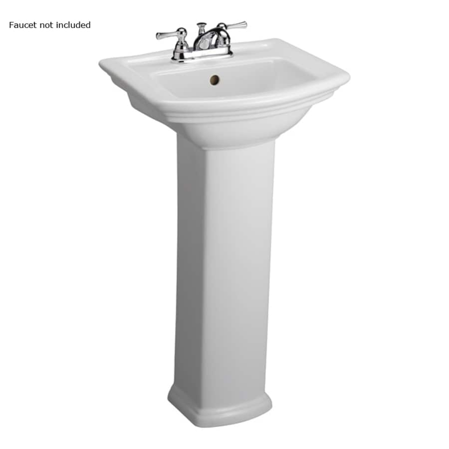 Barclay Washington 33.75-in H White Vitreous China Pedestal Sink