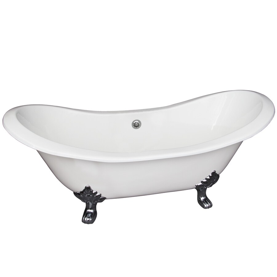 Barclay Cast Iron Oval Clawfoot Bathtub with Center Drain (Common: 30-in x 72-in; Actual: 30-in x 30.5-in x 71-in)