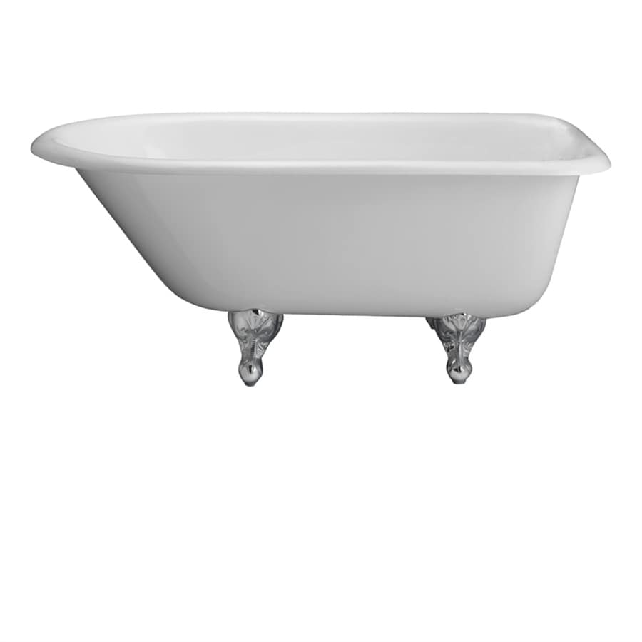 Shop Barclay 55.5-in White Cast Iron Clawfoot Bathtub with ...
