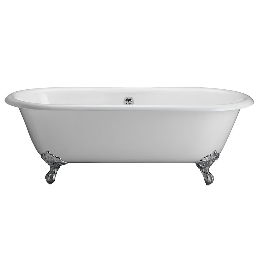 Shop barclay white cast iron clawfoot bathtub with center drain at - Painted clawfoot tub exterior pict ...