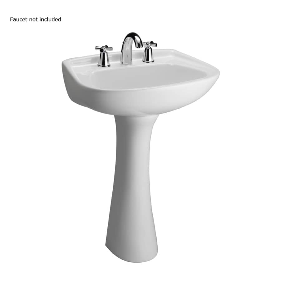 Barclay Hartford 34.12-in H White Vitreous China Pedestal Sink