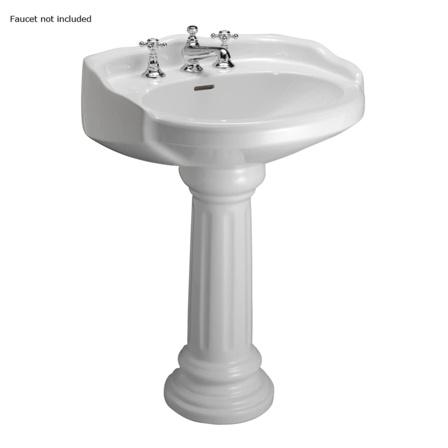 lowes bathroom sinks pedestal shop barclay 34 12 in h white vitreous china 19340