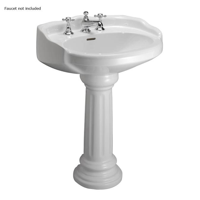 Barclay Vicky 34 12 In H White Vitreous China Pedestal Sink The Sinks Department At Lowes Com