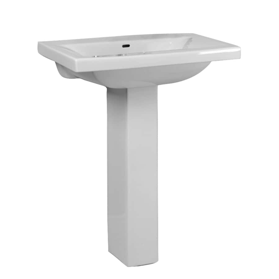 Barclay Mistral 33.5-in H White Vitreous China Pedestal Sink
