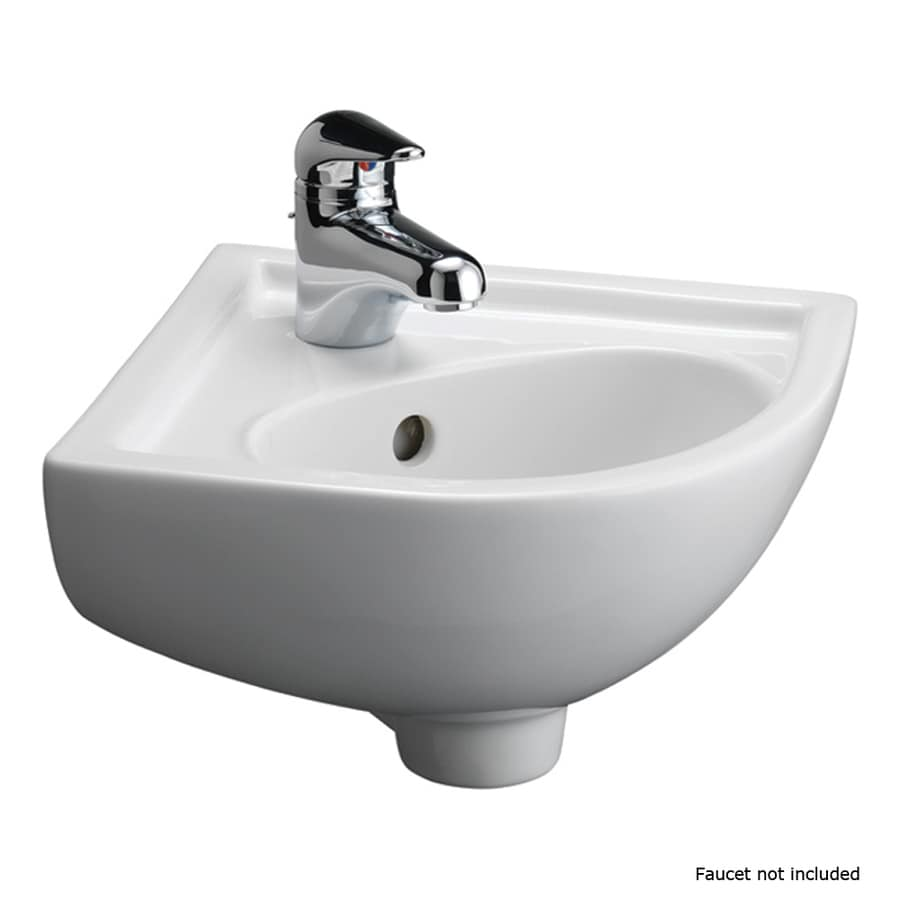 shop barclay white wall mount oval bathroom sink 11486