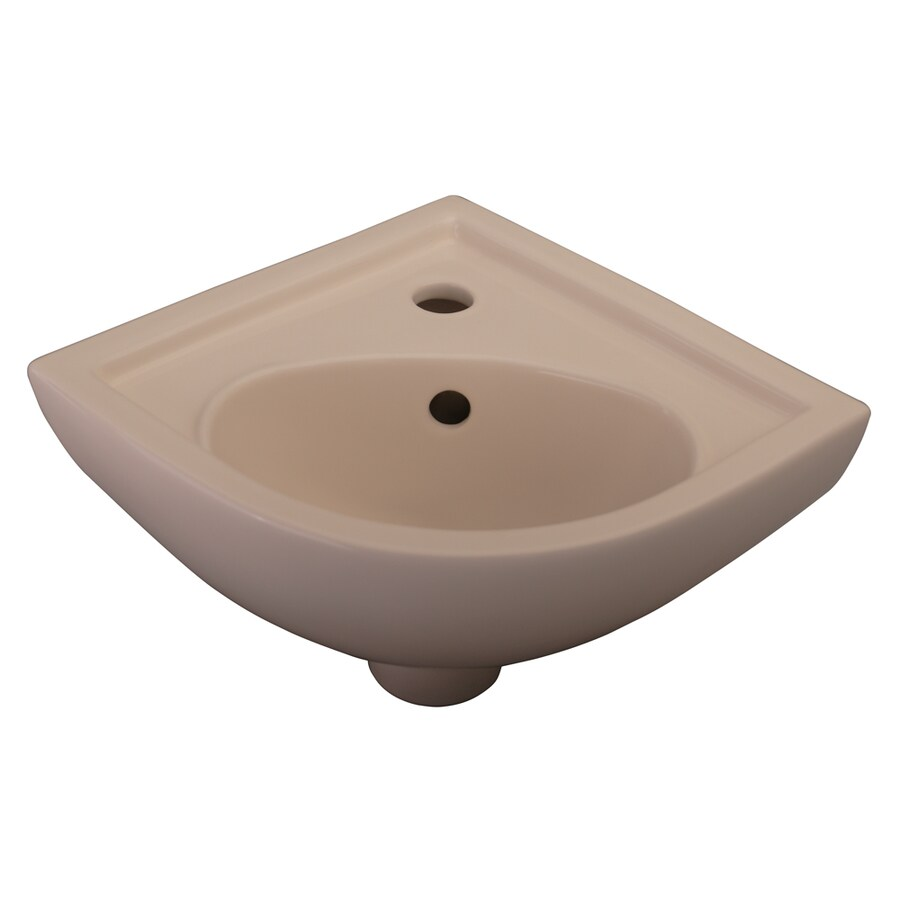 Barclay Petite Bisque Wall-Mount Oval Bathroom Sink with Overflow