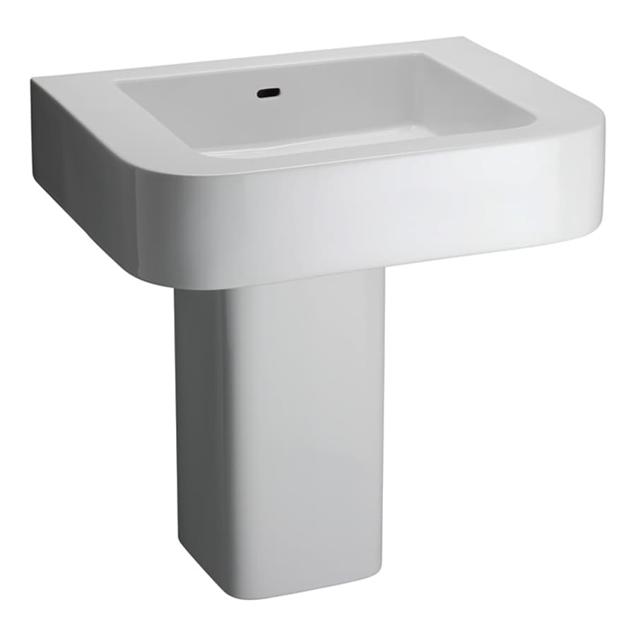 Barclay White Wall-Mount Rectangular Bathroom Sink with Overflow