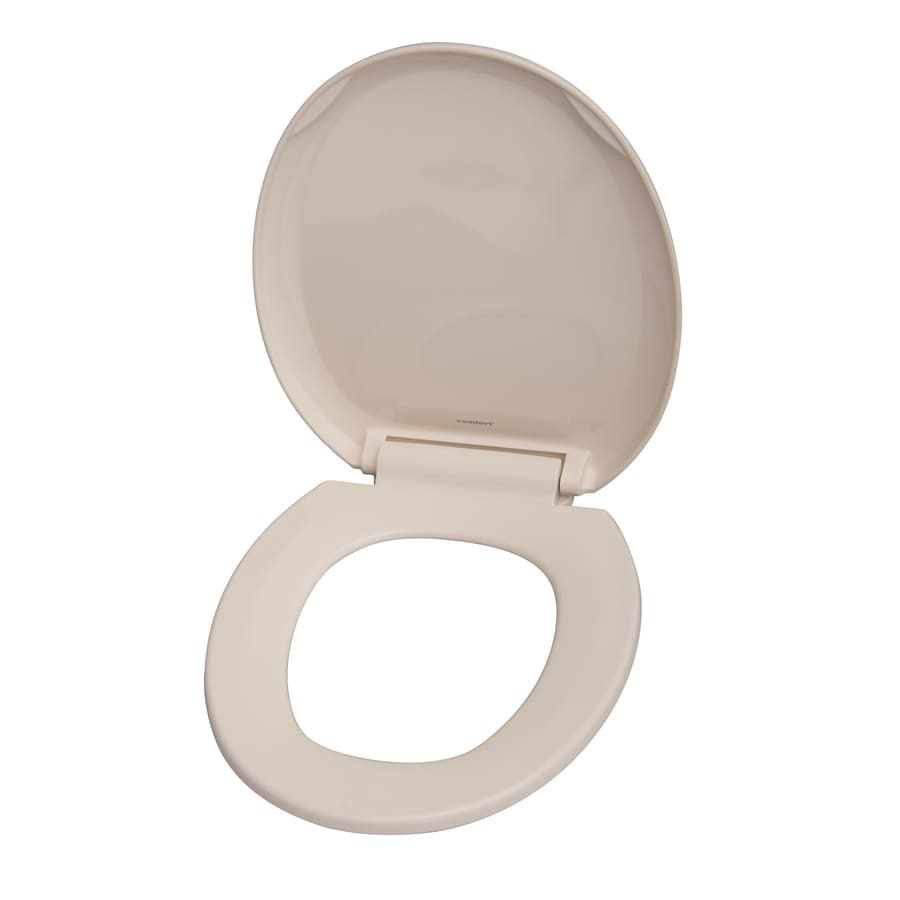 Shop Barclay Bisque Plastic Round Slow Close Toilet Seat