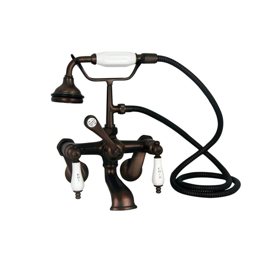 Barclay Rustic Oil-Rubbed Bronze 3-Handle Bathtub and Shower Faucet with Handheld Showerhead