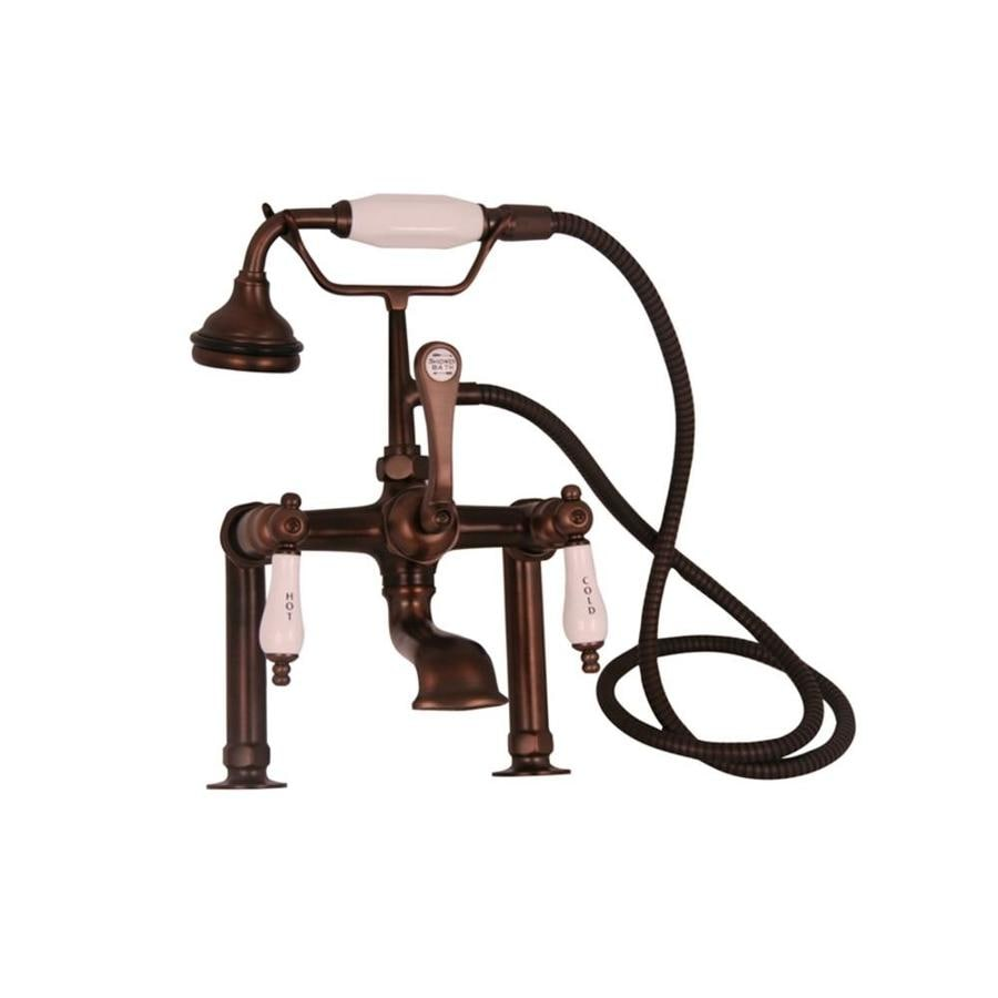 Shop Barclay Rustic Oil Rubbed Bronze 3 Handle Bathtub And Shower Faucet With Handheld