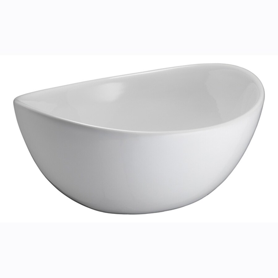 Barclay White Vessel Oval Bathroom Sink