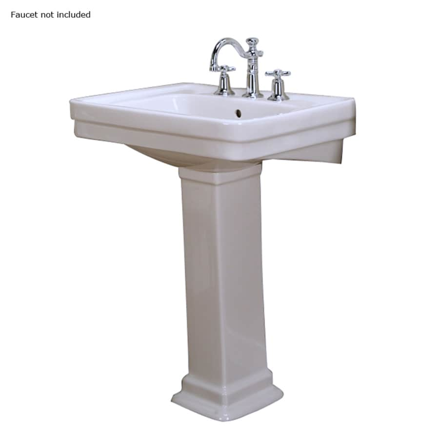 lowes bathroom sinks pedestal shop barclay sussex 34 75 in h white vitreous china 19340