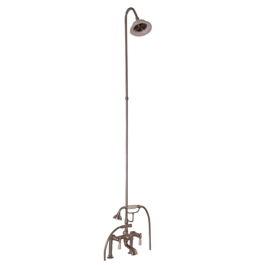 Barclay Satin Brushed Nickel 3-Handle Bathtub and Shower Faucet with Multi-Head Showerhead