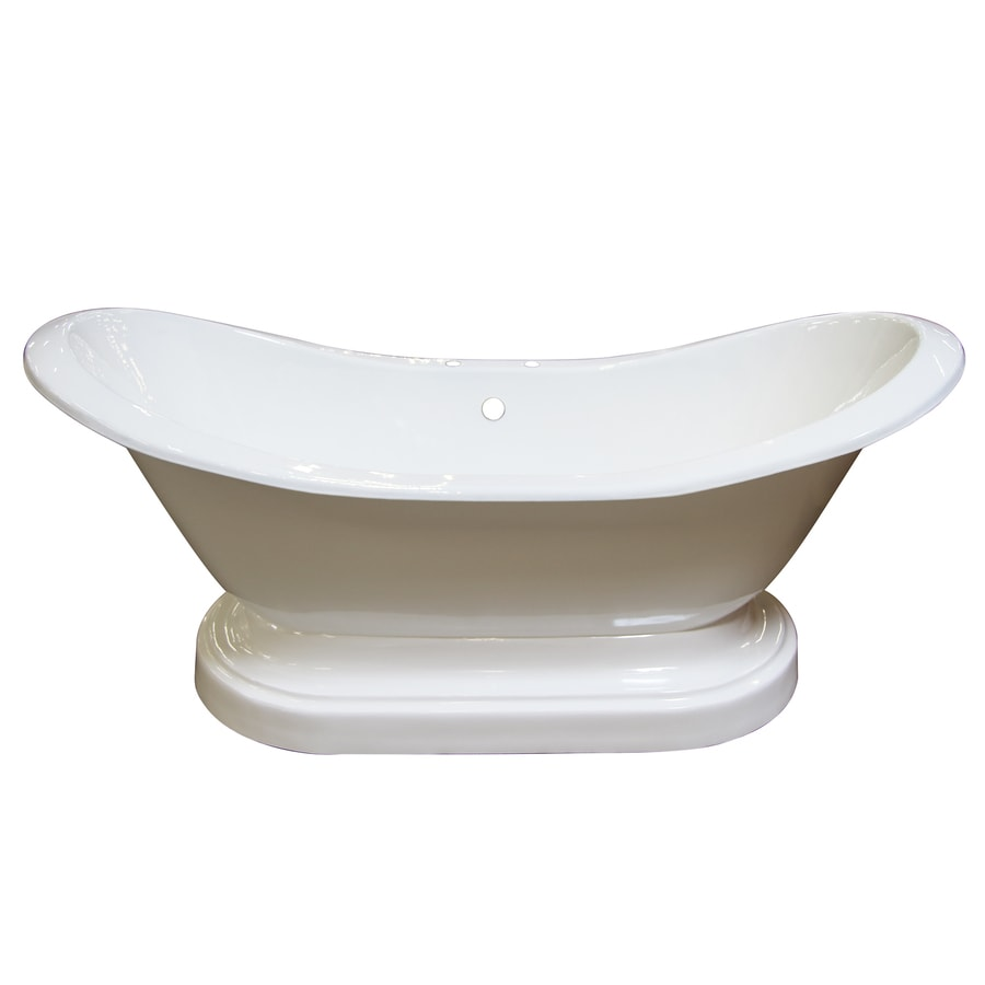 Shop Barclay 71-in White Cast Iron Freestanding Bathtub ...
