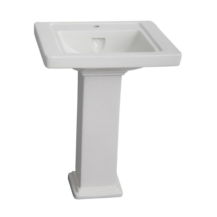Barclay Empire 33-in H White Vitreous China Pedestal Sink