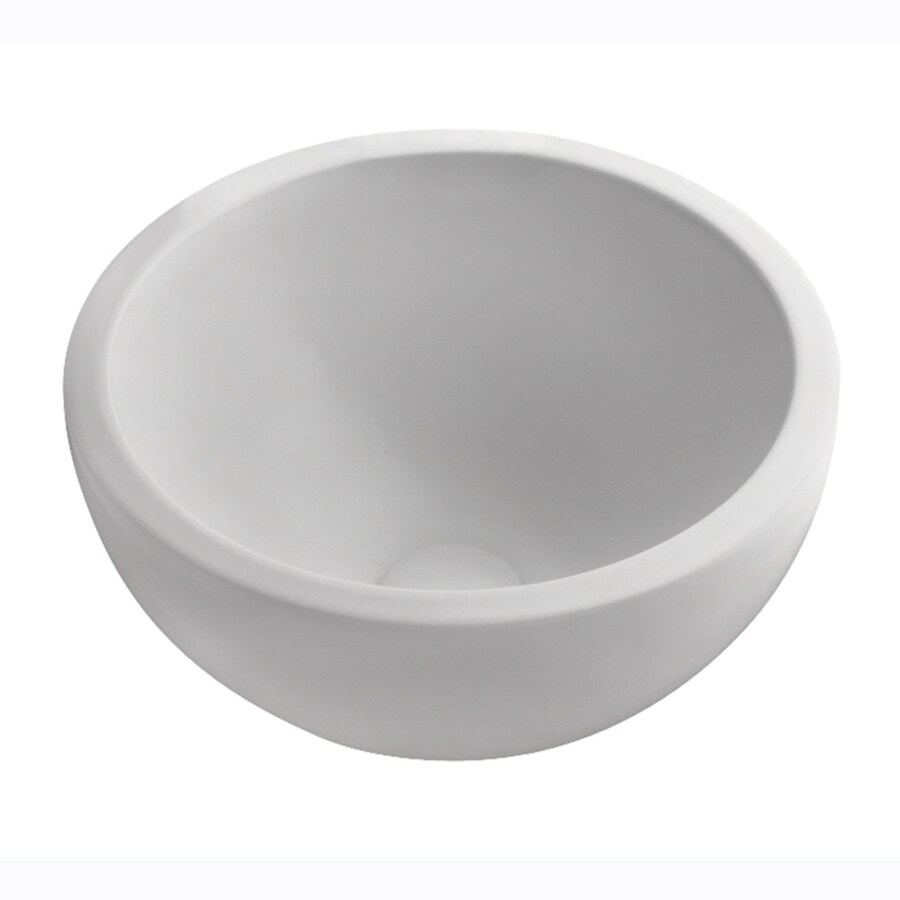 Barclay White Fire Clay Vessel Round Bathroom Sink