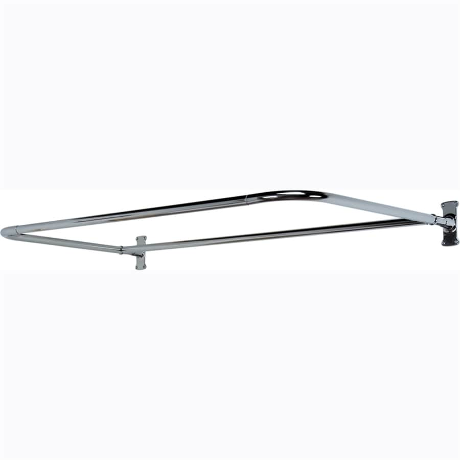Barclay 54-in Polished Nickel U-Shaped Fixed Shower Rod