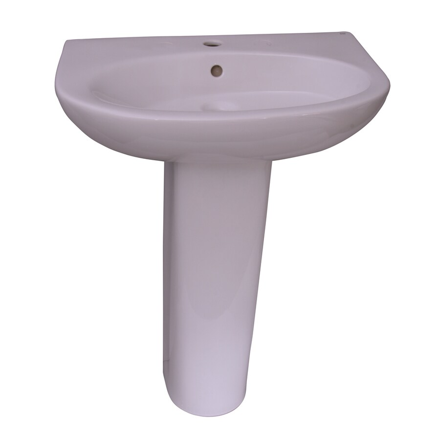 Barclay Infinity 33.5-in H White Vitreous China Pedestal Sink