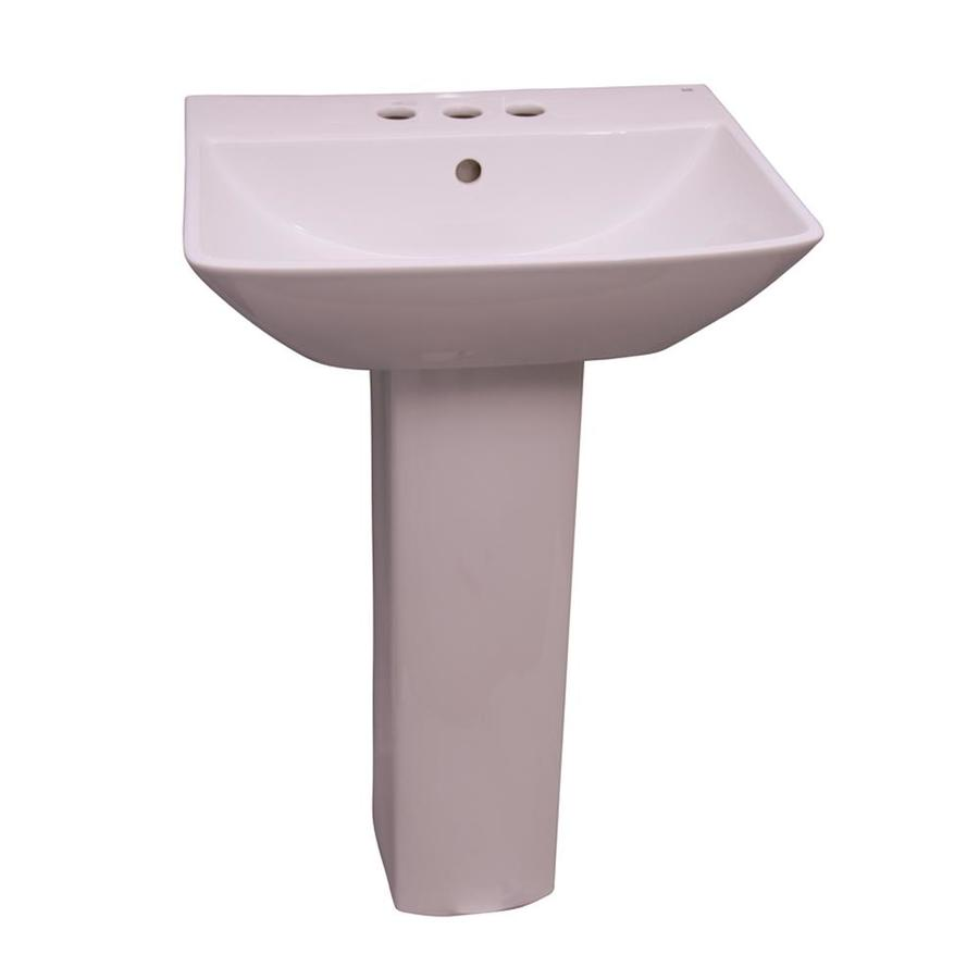 Barclay Summit 32.75-in H White Vitreous China Pedestal Sink