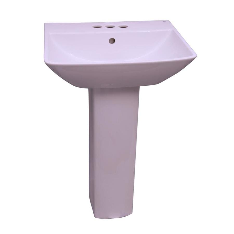 Barclay Summit 33.5-in H White Vitreous China Pedestal Sink