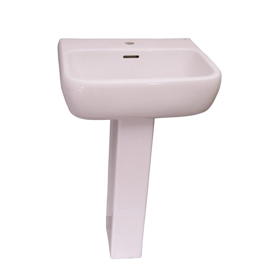 Barclay Metropolitan 33.87-in H White Vitreous China Pedestal Sink