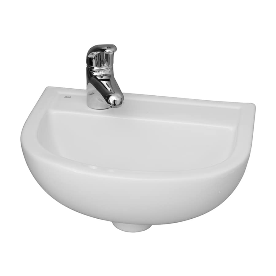 Shop Barclay Compact White Wall Mount Round Bathroom Sink
