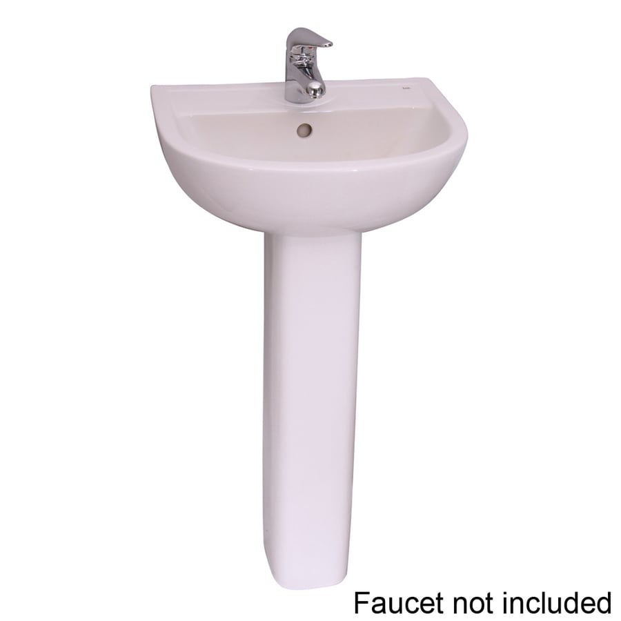 Barclay Compact 32.37-in H White Vitreous China Pedestal Sink