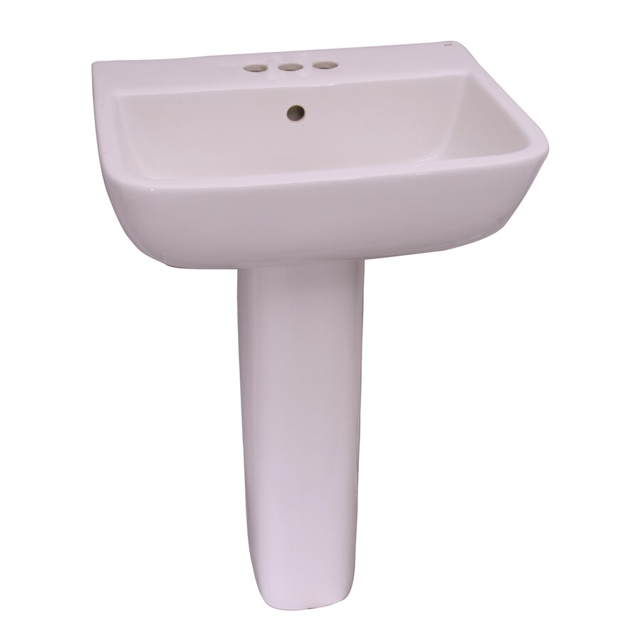 Barclay Series 600 33.25-in H White Vitreous China Pedestal Sink