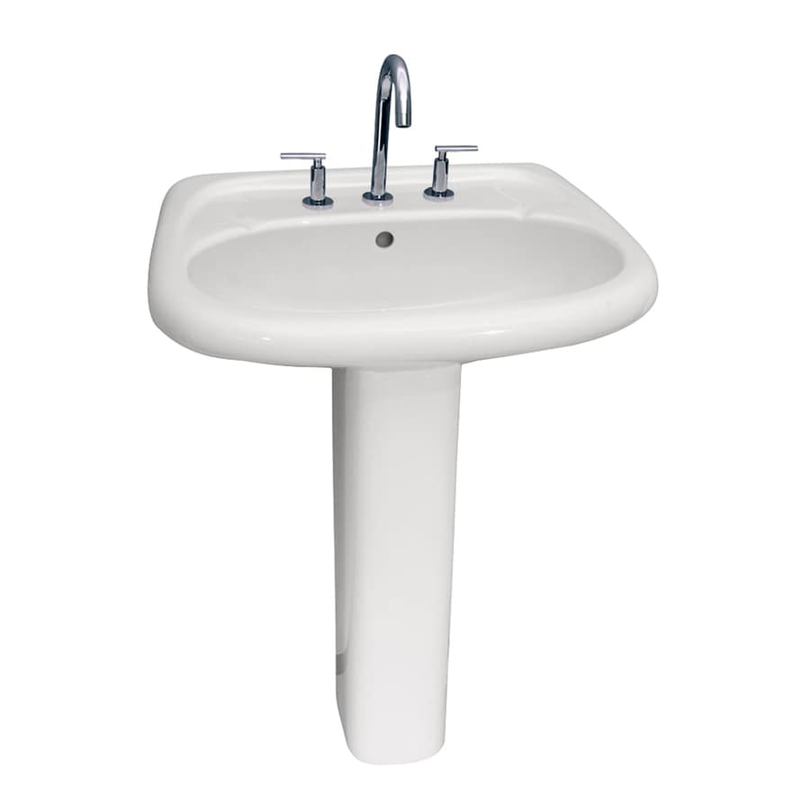 Barclay Flora 32.5-in H White Vitreous China Pedestal Sink