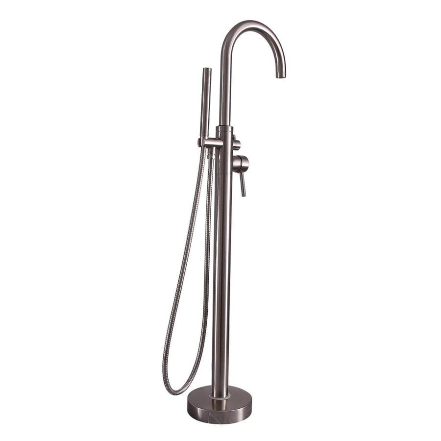 Shop Barclay Brushed Nickel 2 Handle Freestanding Wall Mount Bathtub Faucet A
