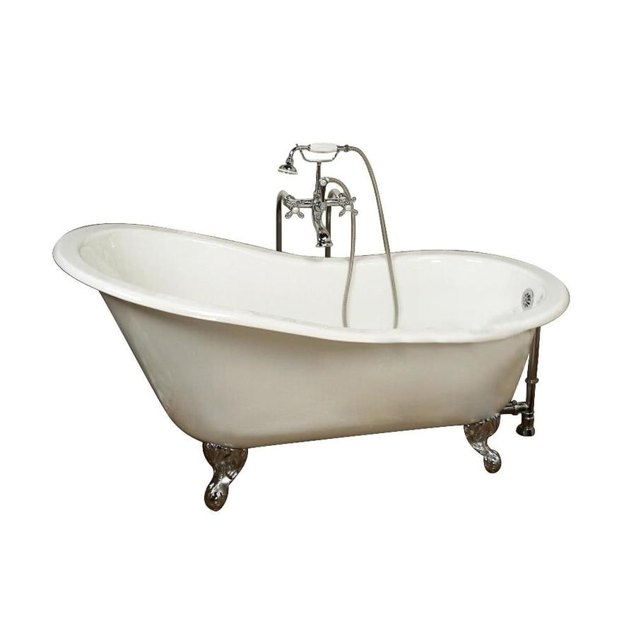 Shop Barclay White Cast Iron Clawfoot Bathtub