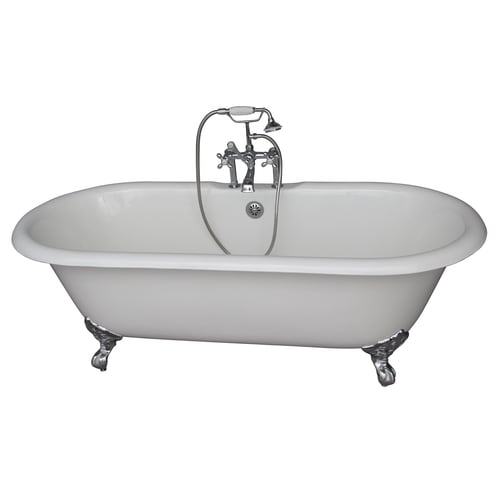 Barclay 31 In W X 67 75 In L White Cast Iron Oval Center