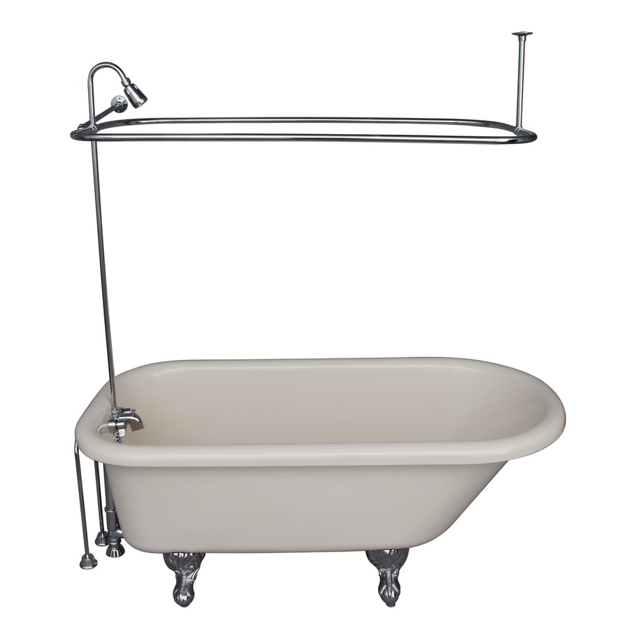 Shop Barclay Acrylic Oval Clawfoot Bathtub With Back