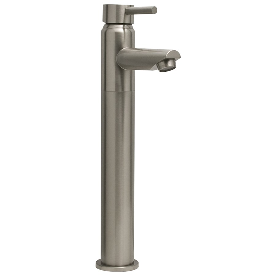 Barclay Bergom Brushed Nickel 1-Handle Single Hole Bathroom Faucet (Drain Included)